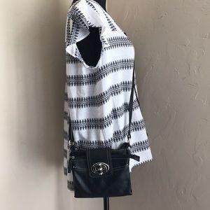 Chaps Black Crossbody Bag